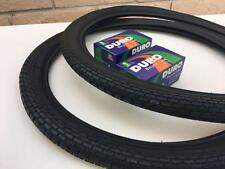 """20"""" Brick Pattern BLACK Tires and Tubes BMX Lowrider 20x1.75 Stingray Muscle"""