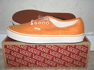 J. Crew x Vans Authentic Low Washed Canvas Bright Orange Men's Size 9-12 NEW!