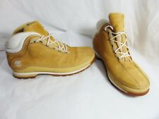 TIMBERLAND Vintage 90's Men's Boots Size 9.5 M Tan White Leather Hip Hop Street