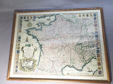 CARTE DE FRANCE AVRIL 1721 ENCADREE EN PARFAIT ETAT 41X53CM