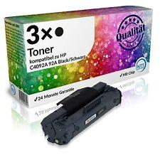 3x n.t.t tóner de impresora para HP c4092a Black comp. a HP LaserJet 3200xi