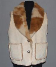 County Clothing Cheyenne Collection Plush Faux Fur Suede Button Vest Wms S NWOT