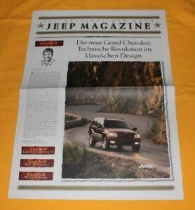 Jeep Magazine 1999 (CH) Prospekt Brochure Catalog Depliant Wrangler Cherokee