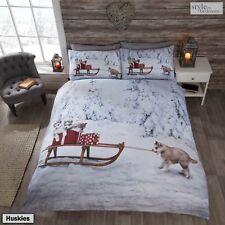 Animal Photographic Print Duvet Quilt Cover Bedding Set & Pillowcases Huskies King