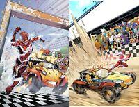 Flash Speed Buggy Special 1 A + B Dan Mora Variant Cover DC Comics 2018 NM+