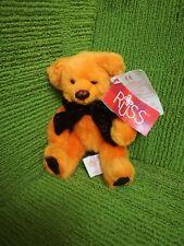 "RUSS BERRIE SPOOKY SPARKLES COLLECTION - PUNKIE - 6"" HALLOWEEN TEDDY BEAR - NWT"