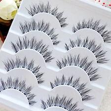 100% Real Human Hair Natural False Fake Eyelashes Eye Lashes Makeup Extension AU