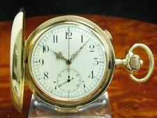 Tempora 14kt 585 Gold Savonette Taschenuhr Chronograph Minuten Repetition