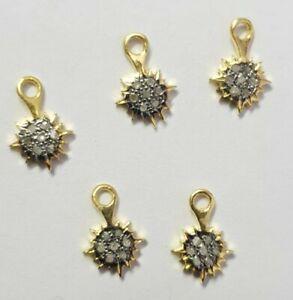 Pave Diamond Sun Minimalist Pendant Finding For Women 925 Sterling Silver