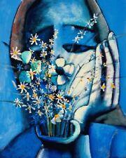 Charles BLACKMAN 'Blue Vase' archival pigment print - COLLECTABLE FINE ART + COA