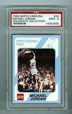 Michael Jordan 1989 North Carolina Collegiate Collection Card #16 PSA 9 MINT