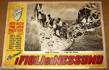 fotobusta film I FIGLI DI NESSUNO Enrico Olivieri Raffaello Matarazzo 1951