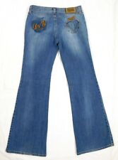 EUC Dolce Gabbana Women's Flare Jeans Size 29 Low Rise Embroidered Hippie Jeans