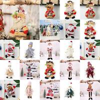 Christmas Tree Ornaments Santa Claus Snowman Angel Doll Toy Xmas Hang Decor Gift