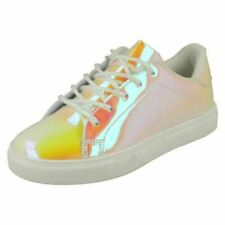 Girls Spot On Casual Hologram Trainers