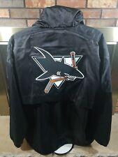 Starter San Jose Sharks NHL Hockey 1/4 Zip Black Pullover Jacket Mens Size XL