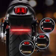 Motorcycle 32-SMD LED Brake Tail Stop Light Left/Right Turn Signal Lamp Strip