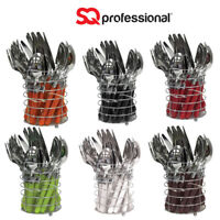 SQ Professional Round Stainless Steel Cutlery Dinner Tableware Set 24Pcs