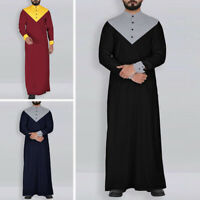 Homme Vêtement Musulmans Arabe Saoudien Manches Longues Islamique Kaftan Tunique