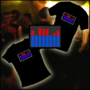 LED SOUND-ACTIVATED EL T-SHIRT FUNNY TEE DANCING GADGET LIGHT UP LITE SHOW DJING
