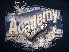 Academy Sports & Outdoors Store Retail Navy Longsleeve Graphic Print TShirt S