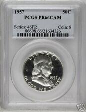 1957 Franklin Half PCGS PR66 Cameo