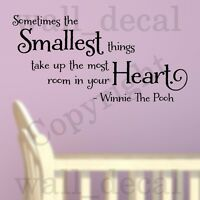 Sometimes The Smallest Things Wall Decal Vinyl Sticker Quote Winnie The Pooh