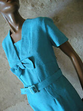 CHIC VINTAGE ROBE COTON 50s DRESS VTG FIFTIES MOD SECRETARY KLEID 50er  (38)