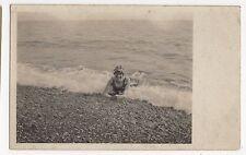 Kent, Folkestone, Sea Bathing Social History RP Postcard, A748