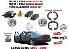 FOR LEXUS LS400 4.0 1989-2000 FRONT + REAR BRAKE DISCS SET + PADS + SHOES KIT