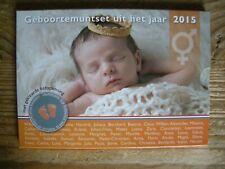 Nederland Geboorteset 2015  met gekleurde baby penning