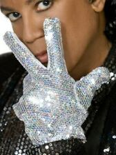 Smiffy's Official Michael Jackson Billie Jean Silver Sequin Glove Fancy Dress XL