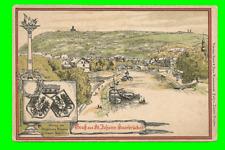 Saarbrücken-St. Johann - Künstlerkarte, Litho ungel. 1905