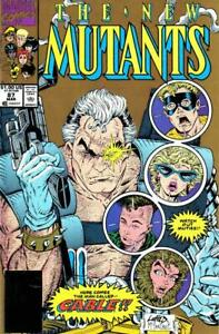 Marvel New Mutants Comic #87 2nd Print Gold Cover Rob Liefeld Todd McFarlane NM