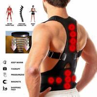 Men Women Posture Corrector Support Magnetic Back Shoulder Brace Belt Adjustable