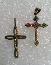 Great Gift Idea - 2 Piece Lot 2 Jewelry Cross Pendants - Great Designs -