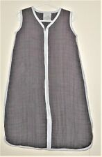 Aden + Anais Size Small 0-6 Months Gray 100% Cotton Zippered Sleepsack