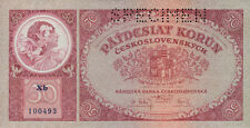 Tschechoslowakei 50 Kronen 1929 Pick 022s (1) Specimen