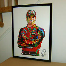 Jeff Gordon Nascar Stock Car Racing Driver Chevrolet Poster Print Wall Art 18x24