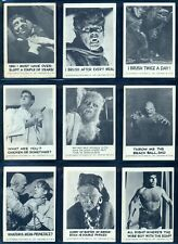 1961 LEAF SPOOK STORIES 1st SERIES 72 CARD COMPLETE SET EX-NM Universal Picture
