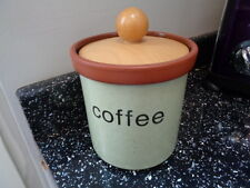 HENRY WATSON POTTERY COFFEE STORAGE JAR