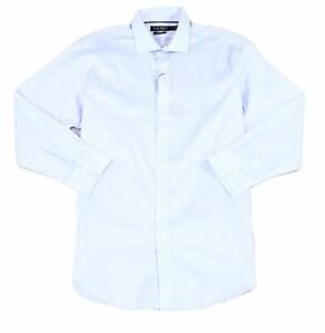 Lauren by Ralph Lauren Mens Dress Shirt Classic Blue Size 17 Slim Fit $79 #323