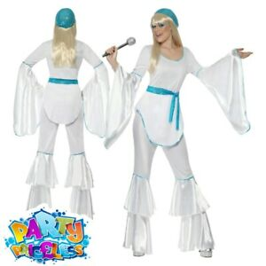 Super Trooper Costume Agnetha 1970s Adult Womens Ladies Fancy Dress Outfit