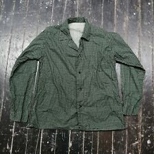 Vintage Men's Patterned Green Pajama Sleepwear Shirt (L) (GREAT)