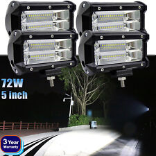 LED Work Spot Light 12V 24V Off Road Car Truck 4x4 Boat SUV Lamp 5 inch 72W 4pcs