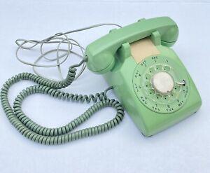 Vintage 1980's ITT 500 Rotary Dial Telephone Teal Mint Green Desk Phone NR $9.99