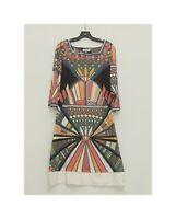 Emilio Pucci Firenze Size 40 Silk Jersey Signature Dress Made in Italy