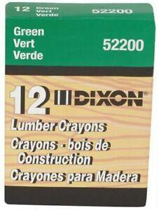 Dixon Ticonderoga 52200 Green Lumber Crayons (Dozen)