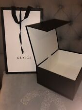 Genuine Gucci Gift Bag + Gift Box Magnetic Closer + Ribbon (dimension 25x20x11cm