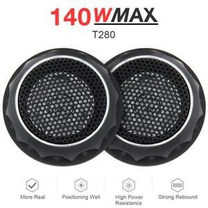 2x140W T280 Car Audio Stereo Speakers Music Dome Tweeter Speakers 3.5KHz-25KHz